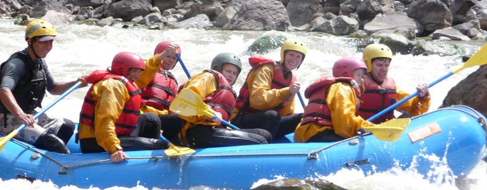 Rafting in the Sacred River
